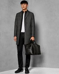 Ted Baker - Check Wool Coat With Detachable Inner Layer - Lyst