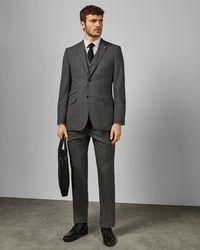 77c450813 Ted Baker Caspiaj Sterling Wool Flannel Tailored Suit Jacket in Blue ...