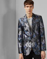 0567d44153d4 Ted Baker Global Luxe Paisley Velvet Jacket in Black for Men - Lyst