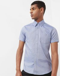 Ted Baker - Cotton Chambray Shirt - Lyst