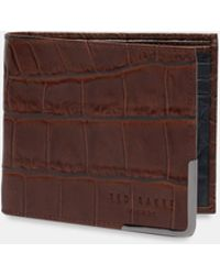 Ted Baker - Embossed Leather Wallet - Lyst