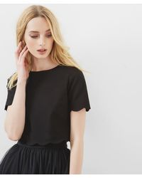 Ted Baker - Scallop Trim Cropped Top - Lyst