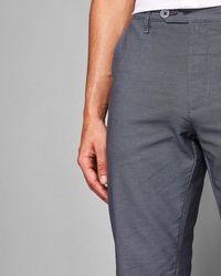 Ted Baker - Mini Design Slim Fit Cotton Pants - Lyst