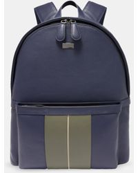 Ted Baker - Striped Leather Backpack - Lyst