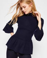 Ted Baker - Pleated Jumper - Lyst