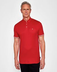 Ted Baker | Striped Cuff Polo Shirt | Lyst