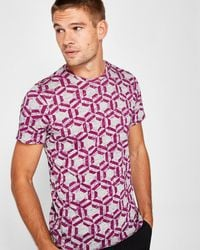 Ted Baker - Mitch Geo Print Cotton T-shirt - Lyst
