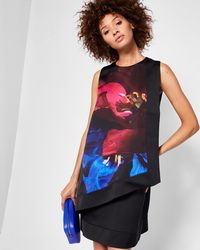 Ted Baker - Impressionist Bloom Layer Dress - Lyst