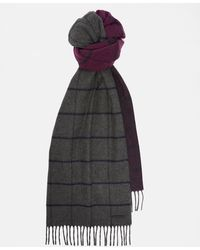 Ted Baker - Ombré Windowpane Check Scarf - Lyst
