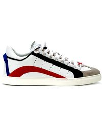 DSquared² - Calf Trainers With Side Bands - Lyst
