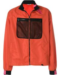 Valentino - Mesh Chest Panel Detail Jacket - Lyst