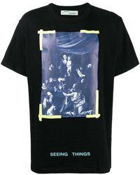 Off-White c/o Virgil Abloh - Caravaggio Printed T-shirt - Lyst