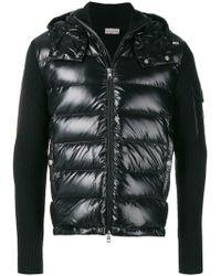Moncler - Ribbed Sleeve Padded Jacket - Lyst