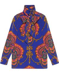 Gucci - Printed Silk Shirt - Lyst