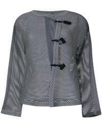 Emporio Armani - Striped Jacket - Lyst