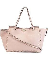 Valentino - Rockstud Leather Tote Bag - Lyst