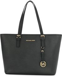 MICHAEL Michael Kors - Jetset Travel Saffiano Leather Tote Bag - Lyst