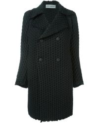 Issey Miyake - Prism Pleat Double Breasted Coat - Lyst