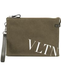 Valentino - Leather Clutch - Lyst