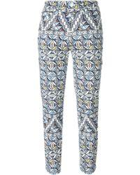 Tory Burch - Geometric Print Trousers - Lyst