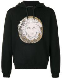 Versace - Medusa Logo Printed Hooded Sweatshirt - Lyst