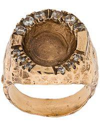 Voodoo Jewels - Silver Sigillum Ring With Drop - Lyst