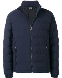 EA7 - Down Jacket With Logo - Lyst