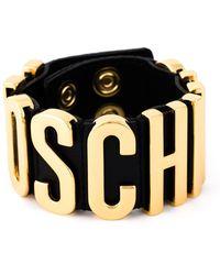 Moschino - Bracelet With Golden Logo - Lyst