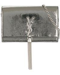 Saint Laurent - Monogram Leather Wallet - Lyst