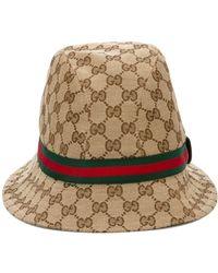 "Gucci - ""original Gg"" Fedora Hat - Lyst"