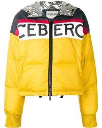 Iceberg - Logo Printed Winter Jacket - Lyst