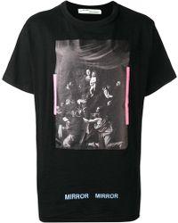 Off-White c/o Virgil Abloh - Caravaggio Cotton T-Shirt - Lyst