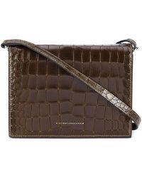 Victoria Beckham - Star Shoulder Bag With Croco Print - Lyst