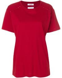 Valentino - Cotton T-shirt With Studs - Lyst
