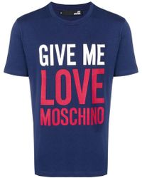 Love Moschino - T-shirt Give Me Love - Lyst