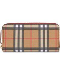 Burberry - Ellerby Leather Zip Around Wallet - Lyst