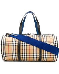 Burberry - Medium Vintage Check Barrel Bag - Lyst