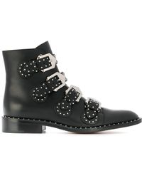 Givenchy - Elegant Studded Leather Ankle Boots - Lyst