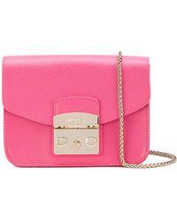 Furla - Pink Hortensia Leather Shoulder Bag - Lyst