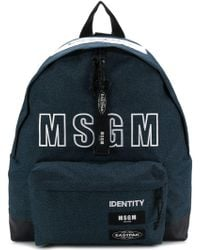 MSGM - Blue Eastpak Edition Logo Backpack - Lyst