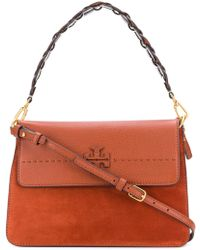 Tory Burch - Mcgraw Mix Material Shopping Bag - Lyst