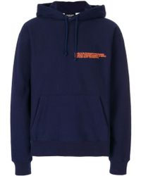 CALVIN KLEIN 205W39NYC - Logo-embroidered Hoodie - Lyst