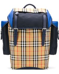 Burberry - Backpack With Check Motif - Lyst