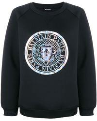 Balmain - Printed Neoprene Sweatshirt - Lyst