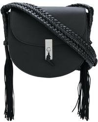 Altuzarra - Tassel Detail Flapped Shoulder Bag - Lyst