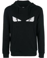 Fendi - Eyes Printed Hooded Sweatshirt - Lyst