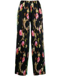 Richard Quinn - Floral Print Pleated Trousers - Lyst