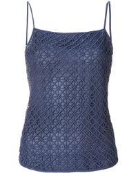 Emporio Armani - Geometric Lace Slip Top - Lyst
