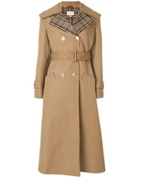 Gucci - Butterfly Embroidered Trench Coat - Lyst