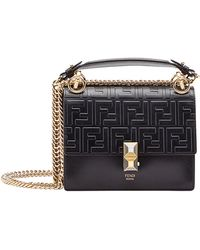 Fendi - Mini Kan I Handbag With Logo - Lyst